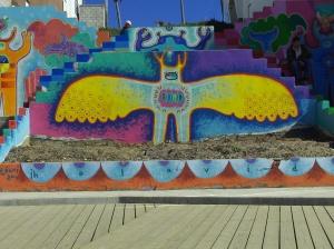 Arte en el malecón de Playas