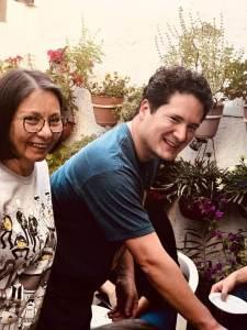 con Pako, en su visita de diciembre